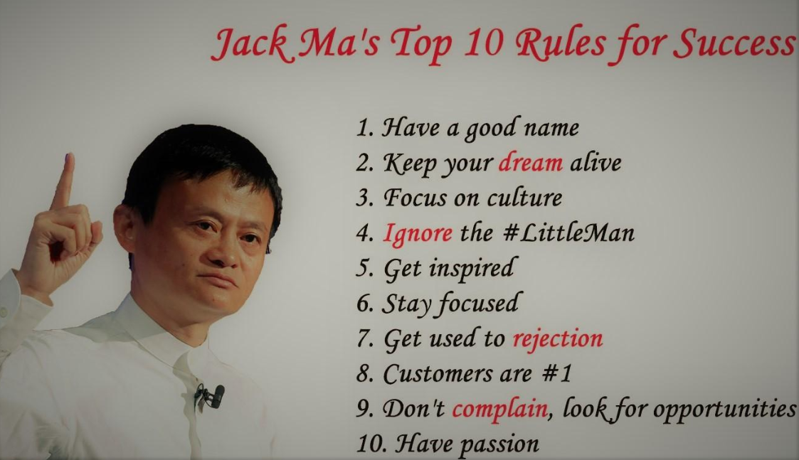 Jack Ma S Top 10 Rules For Success Andre Joseph Cubeta